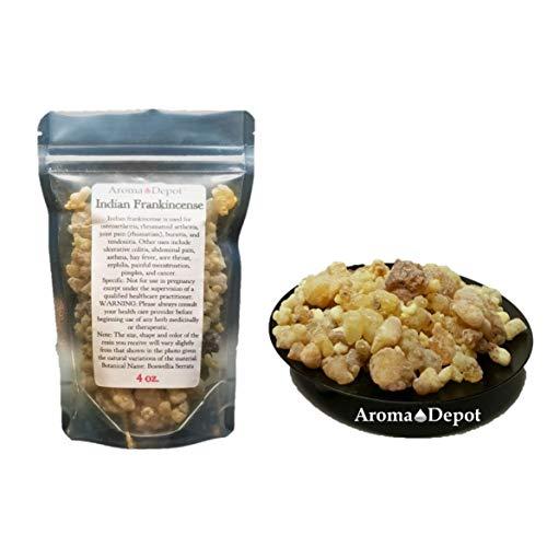 (Indian Frankincense Resin Organic Aromatic Tear Rock Incense Olibanum Gum Bulk (4 Ounce))