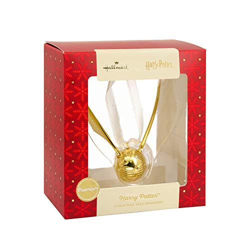 Hallmark 2018 Exclusive Premium Harry Potter Golden Snitch Metal Christmas Ornament (Golden Ornaments Christmas)