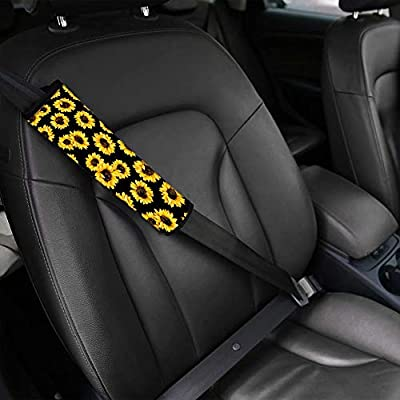 GePrint 2 Pack Blue Butterfly Seat Belt Covers Soft Car Seat Belt Pad Cover Seat Belt Shoulder Pads for Adults Kids Neck Cushion Protector