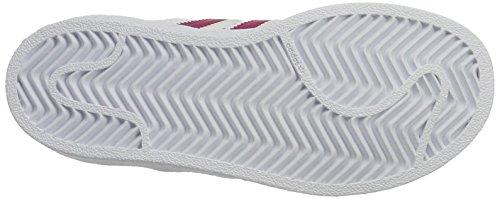 adidas Superstar Foundatio, Zapatillas de Baloncesto Unisex Niños Blanco (Ftwwht/bopink/ftwwht)