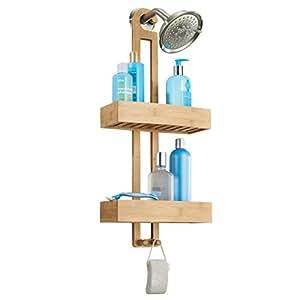 Mdesign estanter a para ducha de bamb pr ctico estante - Estanteria ducha ikea ...