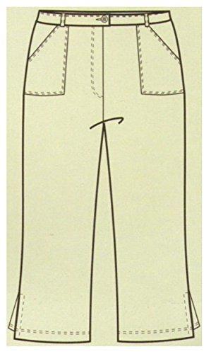 Damen Caprihose, 3/4-Hose, Sommerhose, beige, AM-DA-4543-be