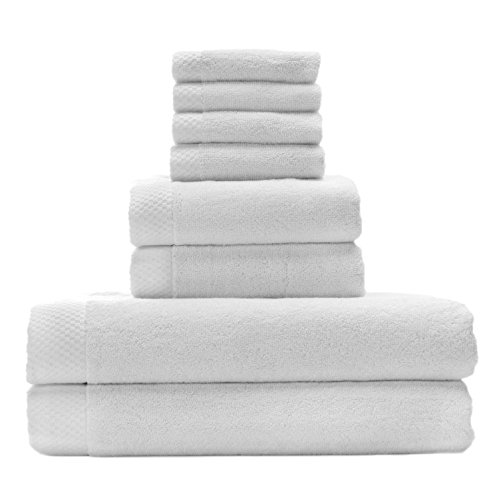 Silky Soft Organic Bamboo Bath Towel Set Bundles By BedVoyag