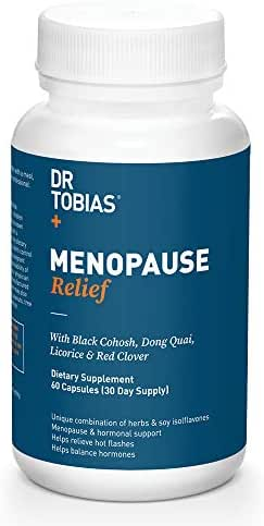 Dr Tobias Menopause Relief - Black Cohosh - Hormone Support & Hot Flash Relief (60 Count)