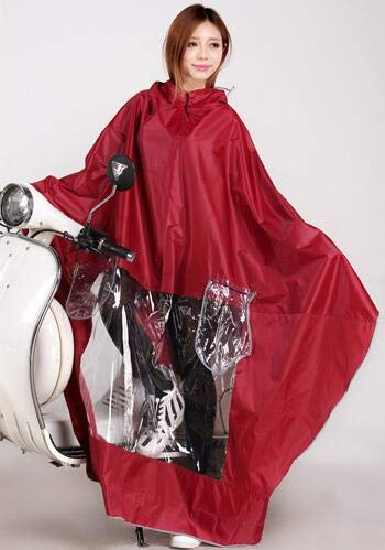Burgundy XuBa Fashion Motorcycle Electric Vehicles Women Raincoat colorful Impermeable Rain Coat Rain Cape Burgundy