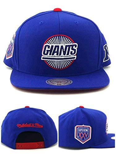 Mitchell & Ness New York Giants New Super Bowl XXV Blue Era Snapback Hat Cap