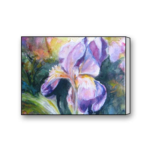 Beautiful Purple Iris - Du Art Gifts Beautiful Purple Iris Flowers Oil Painting Custom Canvas Print Personal Photos Print on Canvas Ready to Hang on Your Wall as a Modern Art 12