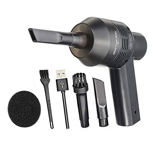 Honlibey Cordless Computer Vacuum Cleaner, Portable Mini Hand-held Vacuum Rechargeable Desktop Dust Cleaner Kit - Cleaning Keyboard Dust, Crumbs, Paper Scraps, Pet Hairs, Cigarette Ash