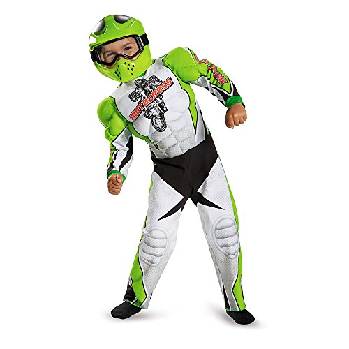 [Disguise 84003L Motocross Toddler Muscle Costume, Large (4-6)] (Biker Kid Costume)