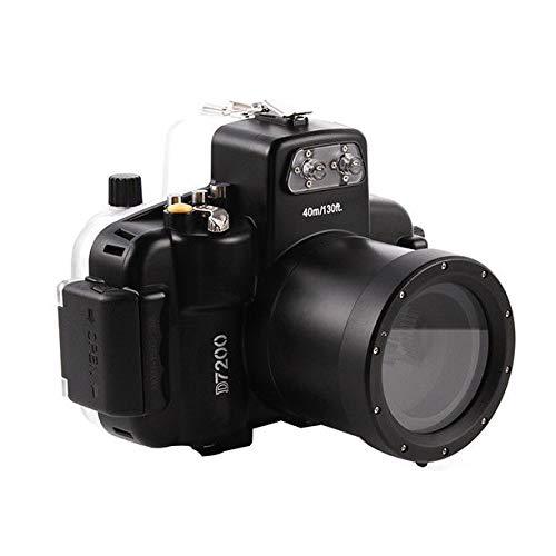 Run Shuangyu Meikon 40M/130FT Underwater Waterproof Diving Housing Case Shell Cover Bag for Nikon D7200 DSLR Camera & 18-55mm - Slr Cases Underwater