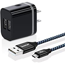 Dual USB Wall Charger Adapter With iSeekerKit 6ft Micro USB Cable For Samsung S7/S6/Edge, LG G4, Moto Droid/X, Sony, HTC, Android Tablets