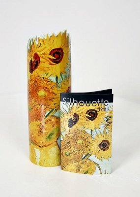 John Beswick Silhouette D'Art Vase - Van Gogh Sunflowers - New In Box