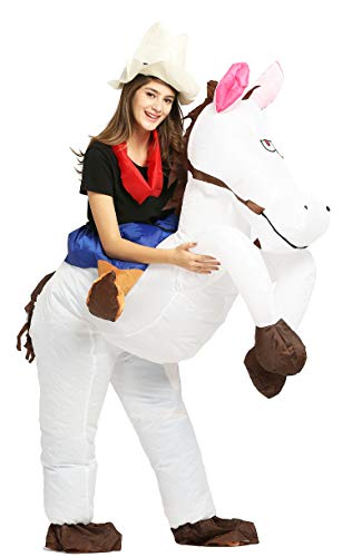 GOPRIME Inflatable Costume for Adult Happy Horse(Horse