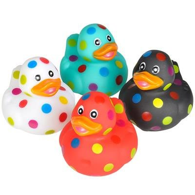 Rubber Ducks Rhode Island Novelty Polka DOT Duckies (Set of 4 Styles)