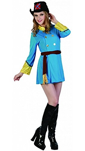 Ladies Musketeer Lady Fancy Dress Outfit Womens Stag Do Hen Night Party Wear Costume One Size Fits US 4-10 ()