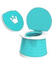 Shiker 1Pcs Portable Baby Potty Toilet for Kids Travel, Folding Potty Child Training Seat, Lightweight Portable Toilet for Travel Home Car Camping Use for Kids Baby