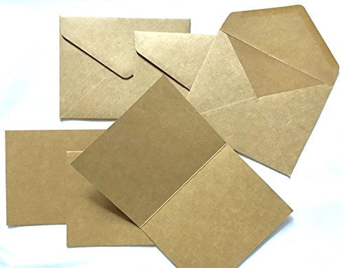 Recycled Blank Cards (American Crafts Blank Note Cards with Envelopes, 3 pack (Recycled))