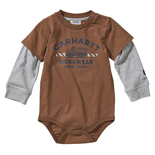 Carhartt baby-boys Long Sleeve Bodysuit