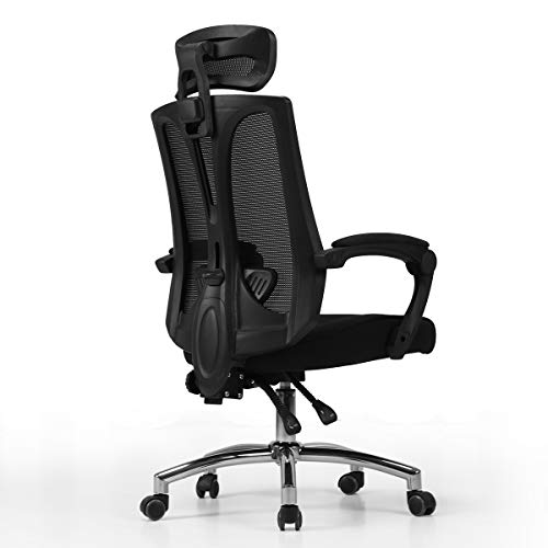 Hbada Ergonomic High Back Office Desk Chair, Big and Tall Executive Mesh Chair with Adjustable Lumbar Support, Black