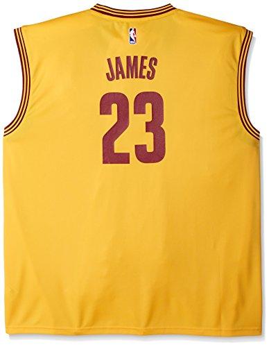 - NBA Men's Cleveland Cavaliers LeBron James Replica Player Alternate Flex Jersey, 3X-Large, Yellow