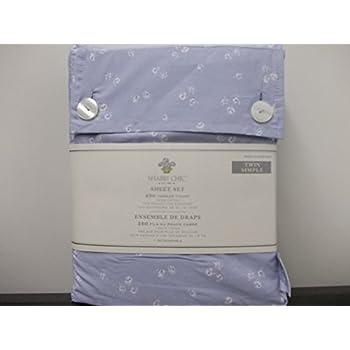amazon com shabby chic simply sheet set floral stitch full double rh amazon com target shabby chic queen sheets shabby chic queen bed sheets
