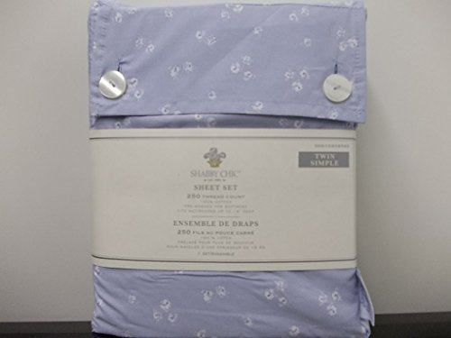 Simply Shabby Chic Sheet Set, Indigo Floral - Twin