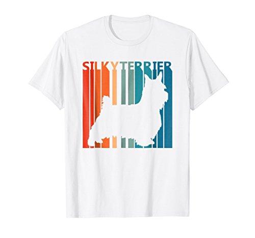 Vintage Retro Silky Terrier Silhouette T-Shirt