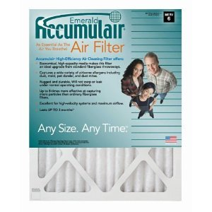 17x20x1 (16.5 x 19.5) Accumulair Emerald 1-Inch Filter (MERV 6) (6 Pack)