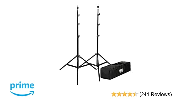 """Fovitec - 2x 7'6"""" VR Gaming Lighthouse Mount Stand Kit - [HTC Vive and Oculus Rift Compatible][Adjustable Ball Heads][Includes Carrying Bag]"""