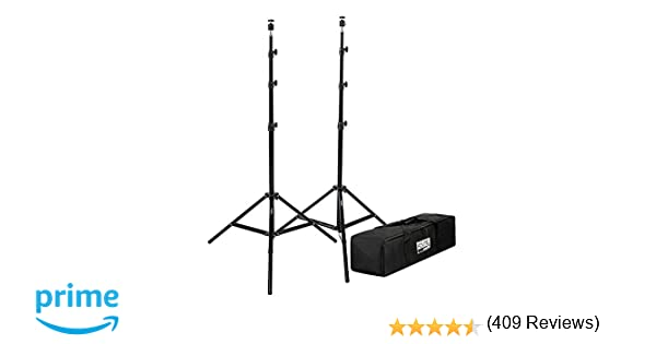 "Fovitec StudioPRO - 2x 7'6"" Light Stand VR Compatible Kit w/ Ball Head Mount - [HTC Vive and VR Edition][For Photo and Video][Includes Carrying Bag]"