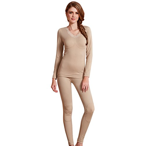 Bottoms Add wool thermal underwear/Ms home warm in autumn and winter/fall clothing long Johns suit/Thermal suit-C One Size by Bottoms