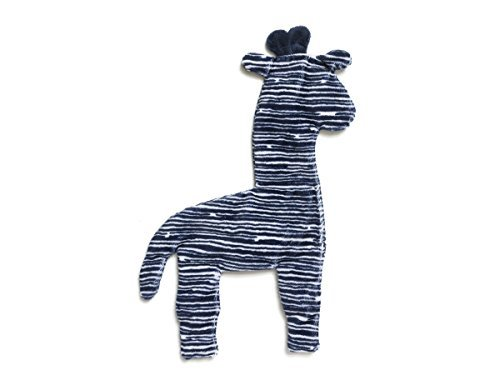 Image of West Paw Design Floppy Giraffe Squeak Toy for Dogs, Navy Stripe (Mini)