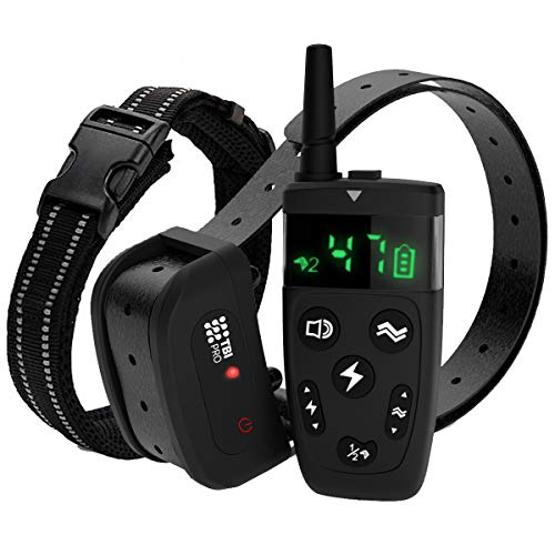Upgraded Dog Training Collar with Remote - Shock Collar for Dogs Long-Range 1600 feet - Flash, Vibration Control, Rechargeable Bark E-Collar - IPX7 Waterproof for Small, Medium, Large Dogs, All Breeds