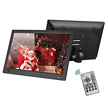 Image of Andoer 15.6 Inch Digital Photo Frame with 16:9 IPS Screen,Widescreen HD Digital Picture Frame Support 1080P Video with Motion Sensor Background Music and Slideshow Mode with Remote Control 8GB SD Card
