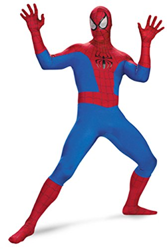 [Disgiuse Men's Spiderman Costume Size 42-46] (Spiderman Outfit Adult)