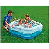 Pool Swimmingpool Planschbecken, 185 x 53 cm, 3-Ring-Pool in Sommerfarben