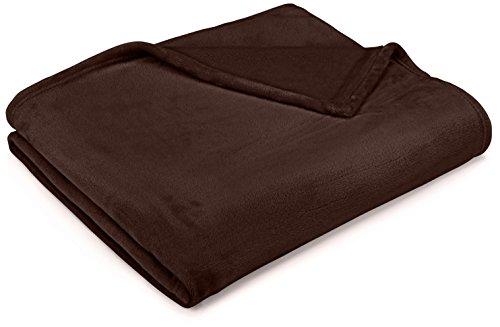 Chocolate Brown Velvet - Pinzon Velvet Plush Blanket - Throw, Chocolate
