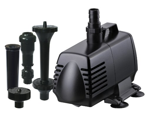 Danner Manufacturing, Inc. Hampton Water Gardens Pump/Fountain Head Kit for Aquarium Filter, 1000-Gallon, #82445