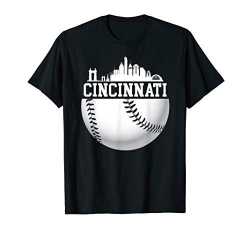 Vintage Downtown Cincinnati Shirt Baseball Retro Ohio State -