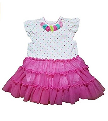 Price comparison product image Little Me Girls' Tutu Popover Dress (18M,  Pink Print)