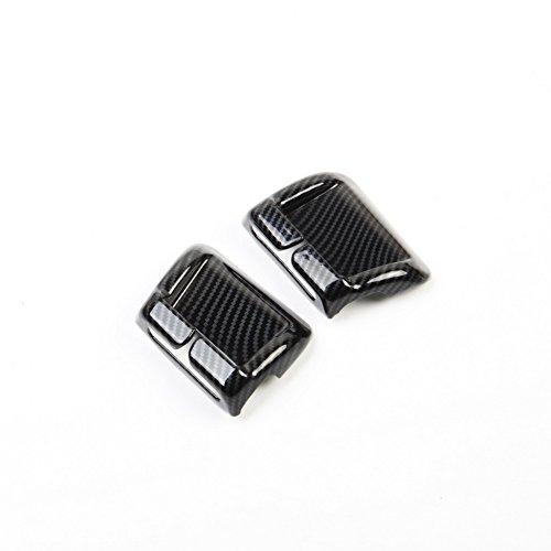 Justautotrim Carbon fiber look Cover trims Accessories Seat belts Brackets molding for 2014 2015 2016 2017 2018 Chevrolet Corvette C7