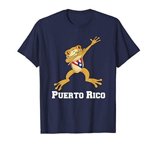 Rico Frog T-shirt - Dabbing Coqui Frog Puerto Rico Funny Gift T-shirt