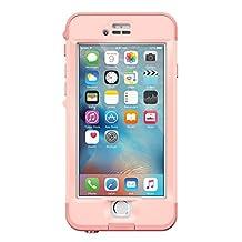 "Lifeproof NÜÜD SERIES iPhone 6s Plus ONLY Waterproof Case (5.5"" Version) - Retail Packaging - FIRST LIGHT (PINK JELLYFISH/CLEAR/SEASHELLS PINK)"
