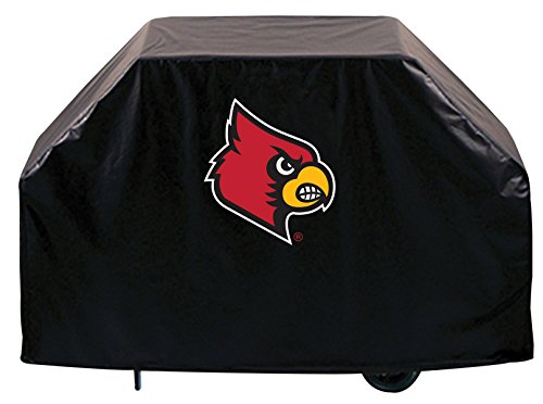Louisville Cardinals HBS Black Outdoor Heavy Duty Vinyl BBQ Grill Cover (60