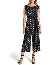 Women's Sleeveless Side Tie Polka Dot Jumpsuit