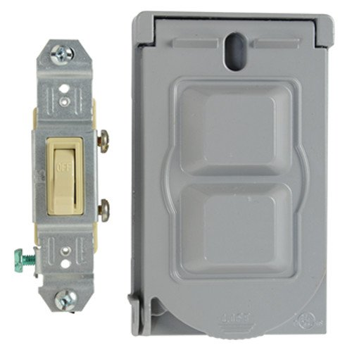 Legrand-Pass & Seymour CA1G - Weather Proof Cover 1G Switch Gray by Pass & Seymour (Image #1)