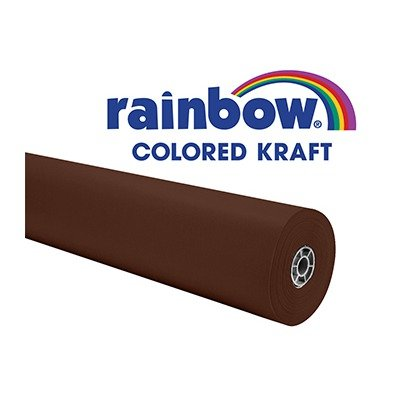 Rainbow Kraft Paper Roll, Duo-Finish, 36 Inches x 100 Feet, 40 lbs, Brown School Specialty 006507