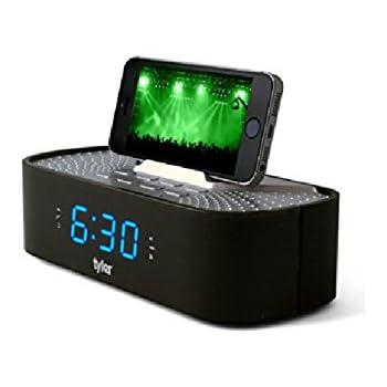 Amazon Com Ihome Space Saver Fm Stereo Alarm Clock Radio