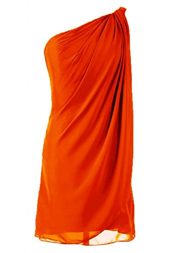 Abito stupefacenti Bridemaid asimmetrico in Orange Sunvary abito Chiffon da Cocktail gZqwx