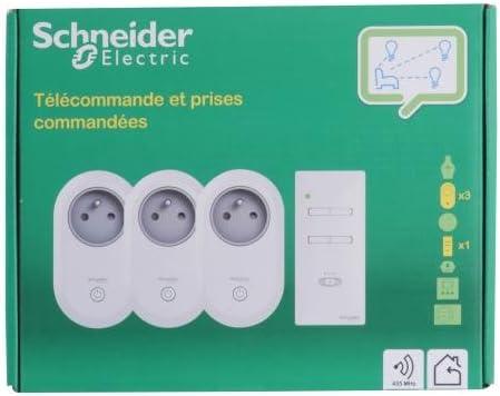 Schneider Electric sc5cctsa94010 mando a distancia con 3 enchufes commandées: Amazon.es: Bricolaje y herramientas